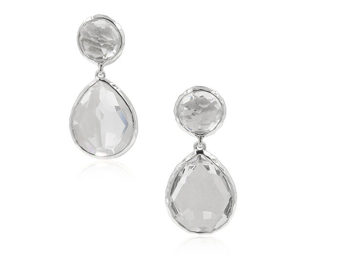 Ippolita Silver Rock Candy Snowman Earrings, Featuring Clear Quartz