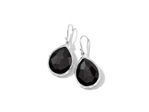 Ippolita Silver Rock Candy Teardrop Onyx Earrings