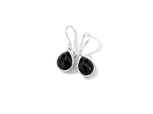 Ippolita Silver Rock Candy Mini Teardrop Black Onyx Earrings