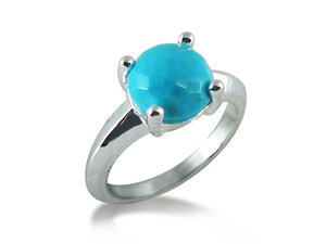 Ippolita Rock Candy Prong Knife Edge Ring, Fashioned in Sterling Silver and Featuring Turquoise