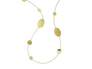 """Ippolita 18K Yellow Gold 36"""" Classico Crinkle Oval & Circles Necklace"""