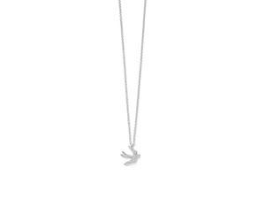 "Ippolita Silver 18"" Stardust Mini Pave Diamond Dove Pendant Necklace"