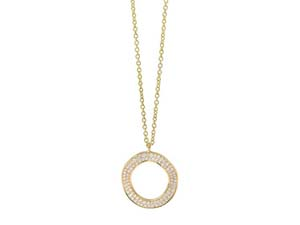 Ippolita Stardust Medium Wavy Circle Diamond Necklace, Fashioned in 18K Yellow Gold, Measuring 18