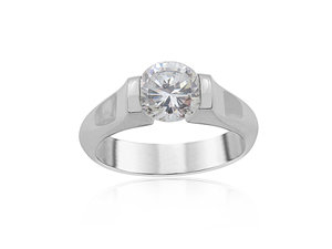 Alson Special Value Steven Kretchmer Platinum Tension Set Engagement Ring, Center Stone Sold Separately