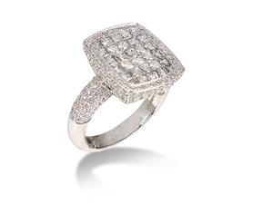 Bez Ambar 18K White Gold Diamond Ring