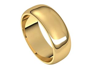 Alson Signature Collection 14K Yellow Gold 7MM Half Round Band