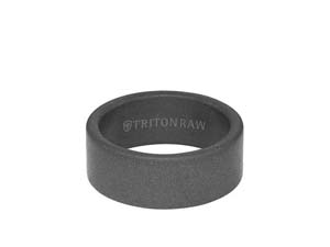 ArtCarved Men's Raw Tungsten Sandblast Finish 9MM Band, with Grey Tungsten Interior