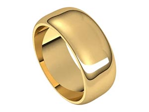 Alson Signature Collection 14K Yellow Gold 8MM Half Round Band