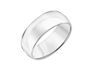 ArtCarved Men's Platinum 8mm Comfort Fit High Polished Band