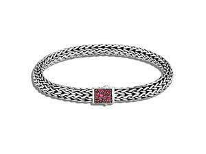 John Hardy Silver Black Sapphire & African Ruby Reversible Bracelet