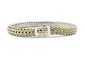 John Hardy Classic Chain Small Reversible Bracelet, Fashioned in Sterling Silver and 18K Yellow Gold