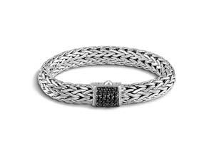 John Hardy Silver Classic Chain Black Sapphire Bracelet