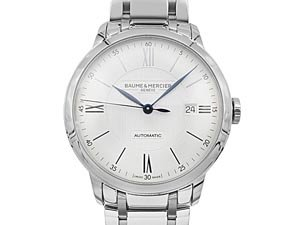 Baume & Mercier Classima 40MM Steel Watch, with a Silver Dial and Automatic Movement