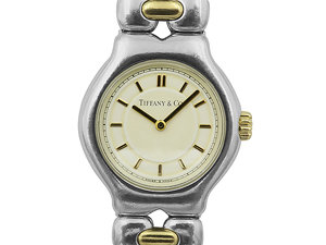 Alson Pre-Owned Tiffany & Co. Steel & 18K Yellow Gold Watch, with a Cream Dial and Quartz Movement