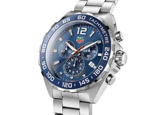 Tag Heuer Formula 1 Chronograph 43MM Stainless Steel Watch, with a Blue Dial and Quartz Movement