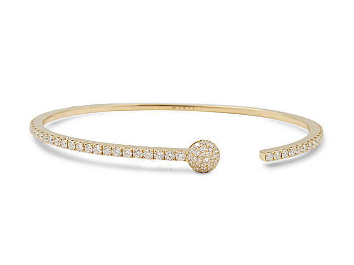 Marli 18K Rose Gold Chelsea Slip-On Cuff Bracelet, Featuring Round Diamonds =1.30cts Total Weight