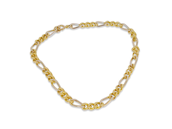 Alson Signature Collection, this 14K Yellow Gold Link Bracelet Measures Seven Inches in Length