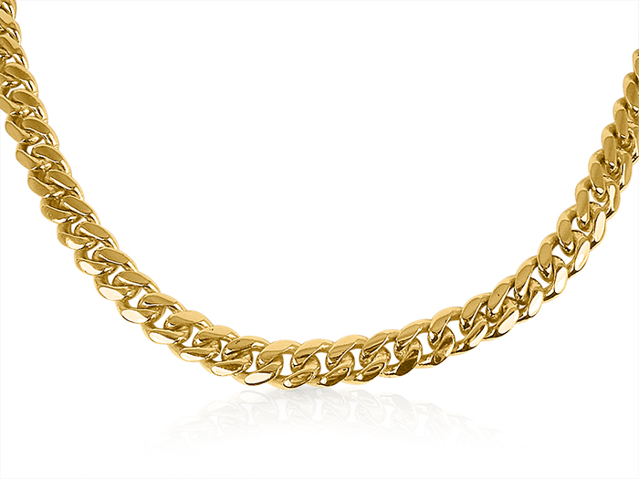 Alson Signature Collection 14K YG Heavy Gents Link Chain, Measuring 18