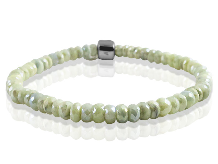 Anzie Silver Stretch Bead Bracelet, Featuring 5MM Silverite Beads