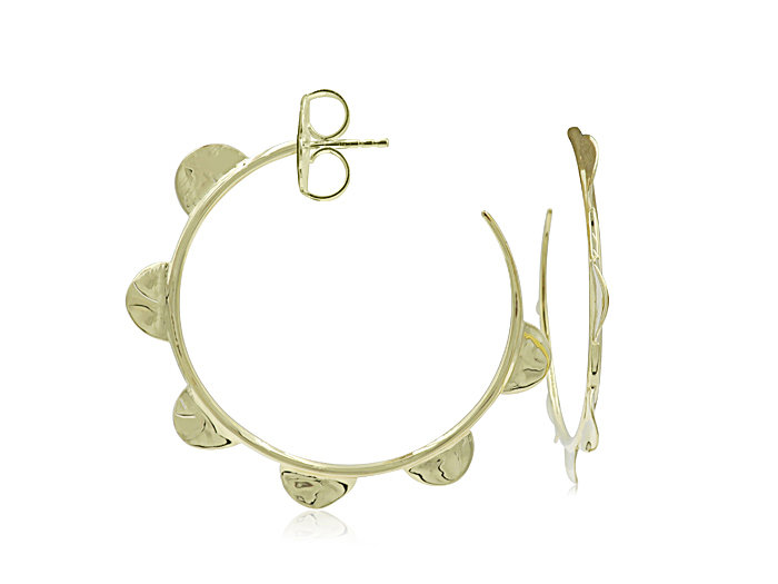 Ippolita 18K Yellow Gold Classico Wavy Disc Hoop Earrings