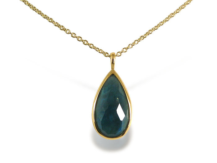 Ippolita Rock Candy Medium Teardrop Necklace, Fashioned in 18K Yellow Gold, Measuring 16-18