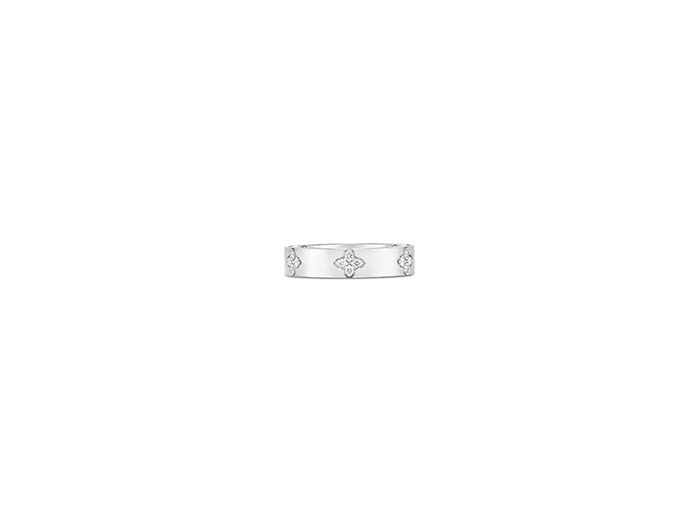 Roberto Coin 18K White Gold Love In Verona Band, Featuring 20 Round Diamonds =.15ctw