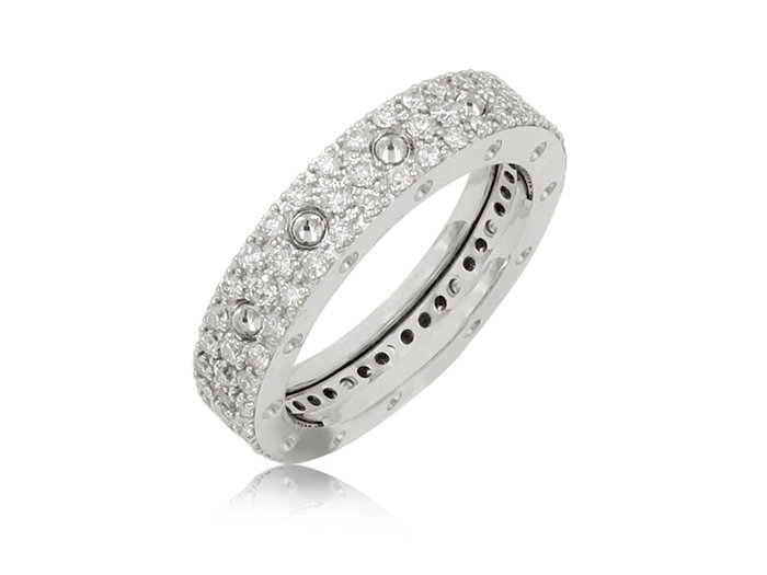 Roberto Coin Pois Moi Diamond Eternity Band, Fashioned in 18K WG and Featuring Round Diamonds =1.04cts Total Weight