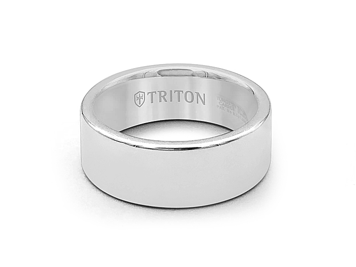 ArtCarved Men's Tungsten 8MM Comfort Fit Flat Band